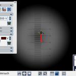 Mikroskop-Ansicht des VRE Millikan mit didaktischen Zusatzeinblendungen