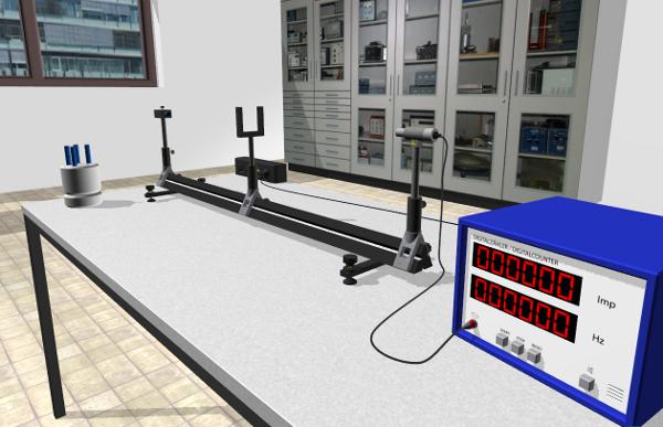 Virtual-Reality-Experiment zur Reichweite radioaktiver Strahlung