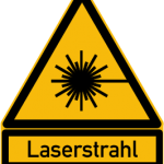 Achtung Laserstrahl